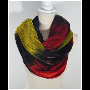 Chicos Faux Crushed Velvet Long Scarf